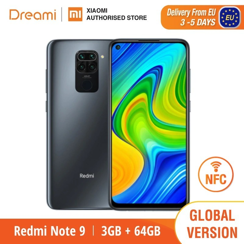 Global Version Xiaomi Redmi Note 9 3GB RAM 64GB ROM (Brand New / Sealed) redminote9, note9, Smartphone mobile