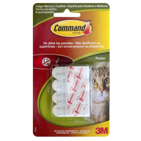 ADHESIVE HANGER POSTER STRIP BL COMMAND 12 PCS