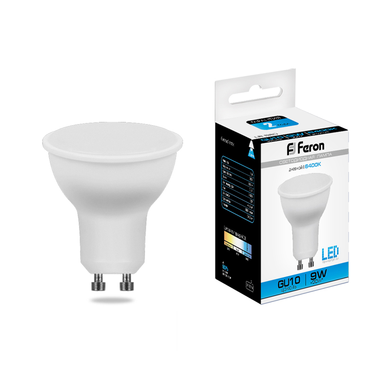 Lampada led Feron MR16 GU10 7W 9W 2700K 4000K 6400K - 3