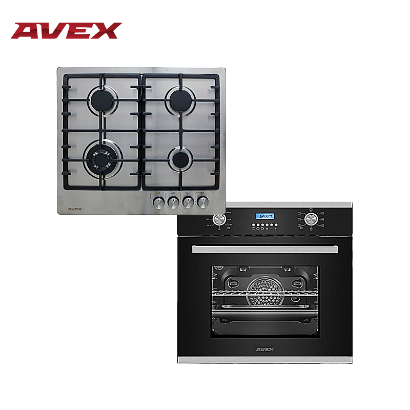 Set the cooktop AVEX HS 6044 X and  electric oven AVEX HM 6170 Bx