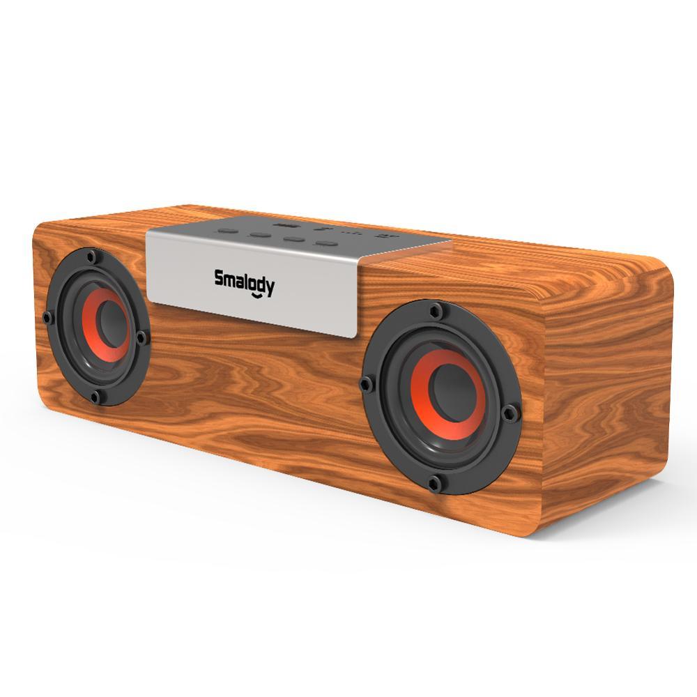 Коричневый SL-50S деревянный Bluetooth 5,0 беспроводной динамик 8 Вт наружная Поддержка U дисковая карта, AUX многофункциональный аудио динамик для