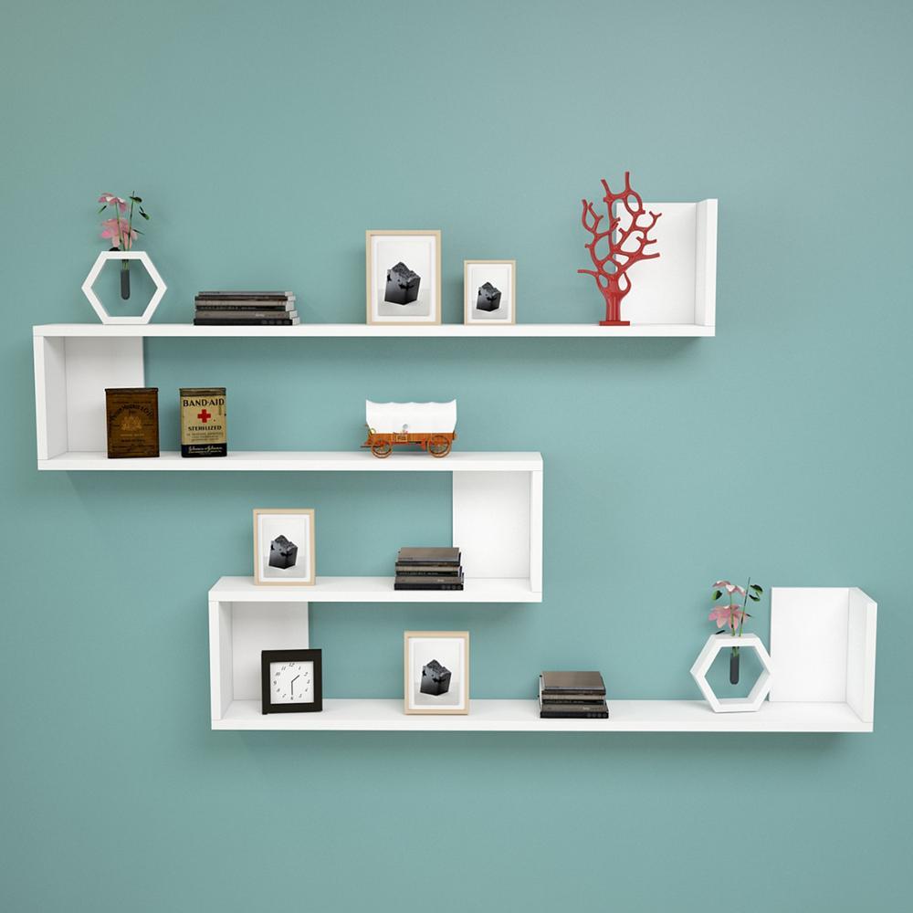 Estante y estante Hecho en Turquía estantería moderna decoración sala de estar de madera soporte de libro organizador estante estantería blanca