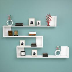 Półki i półka wykonana w turcji nowoczesny regał dekoracyjne pokój dzienny ściana z drewna stojak na książkę organizator stelaż półki regał biały w Biblioteczki od Meble na