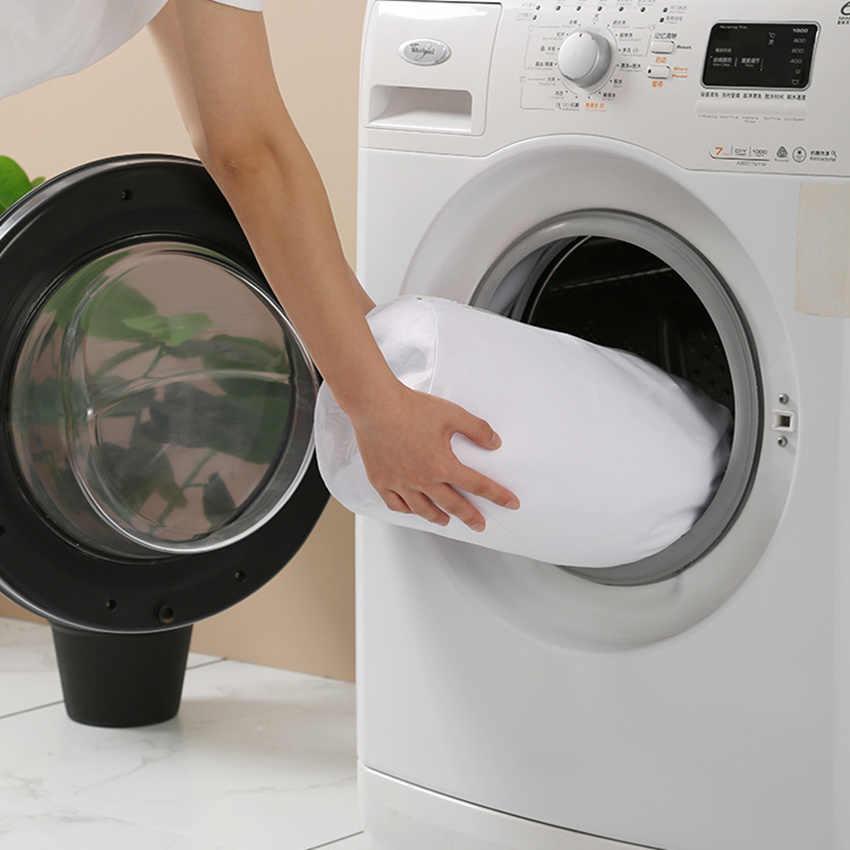 Grijs Rits Mesh Wassen Tassen Huishoudelijke Wasmachine Tas Voor Wasserij Ondergoed Bra Sokken Vuile Kleren Organisator Wasmand