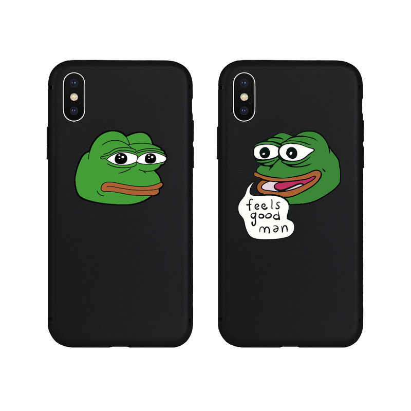 Funny Cool Frog Animal Pattern Soft Case for iPhone X Xs Max XR 8 8Plus 7 7Plus 6 6s Plus 5 5s SE Phone Cover Silicone TPU Case