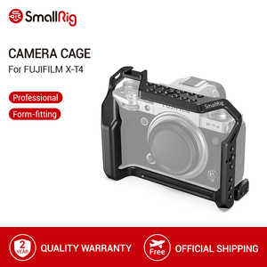 Image 1 - SmallRig X T4 Gabbia Fotocamera per FUJIFILM X T4 In Lega di Alluminio Gabbia Con Fredda Shoe Mount/Nato Fotocamera Ferroviario Video Accessori 2808