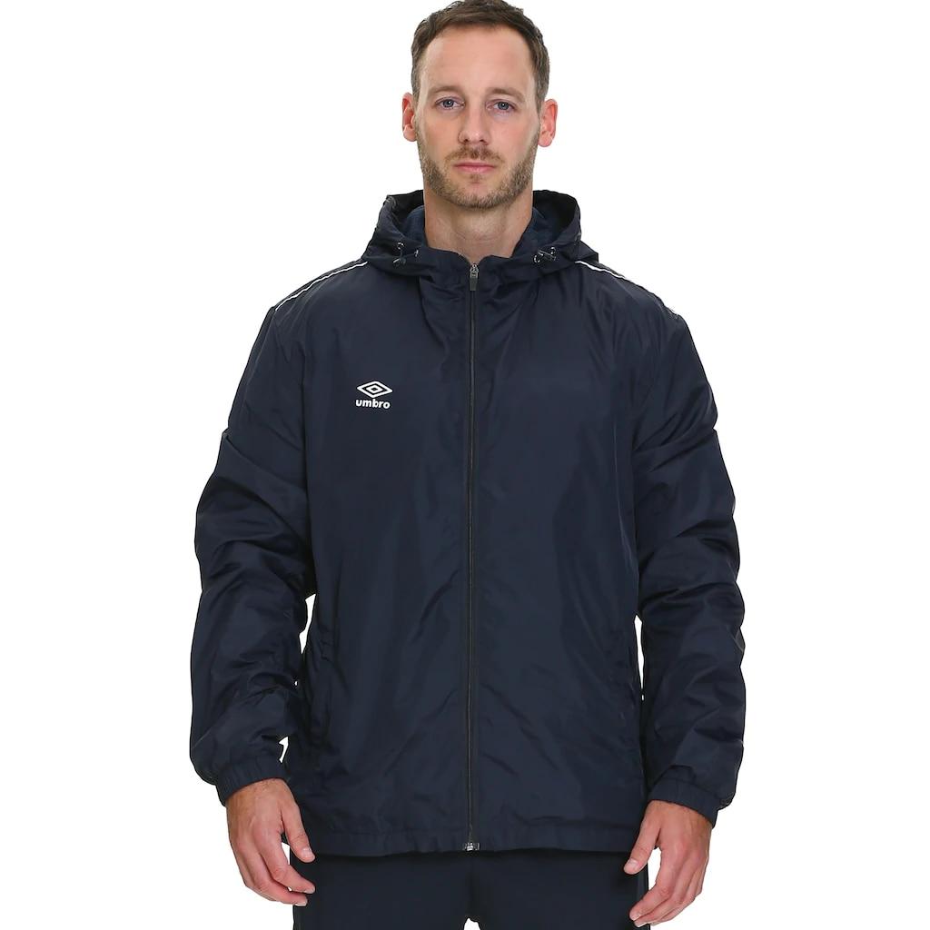 UMBRO DRY Park Otton Men Jacket Long Solid Sports Training Coat Male Raincoat Outwear Warm Men Sports Jogging