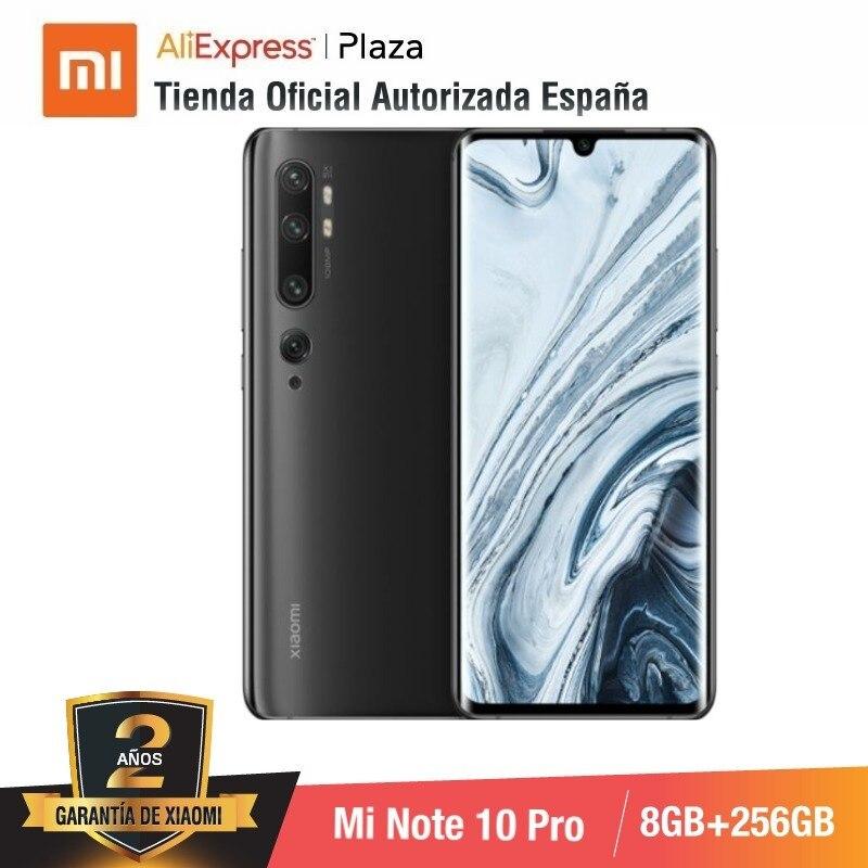 Mi Note 10 PRO (ROM 256 go avec 8 go de RAM, Cámara 108 MP, Android, Nuevo, Móvil)