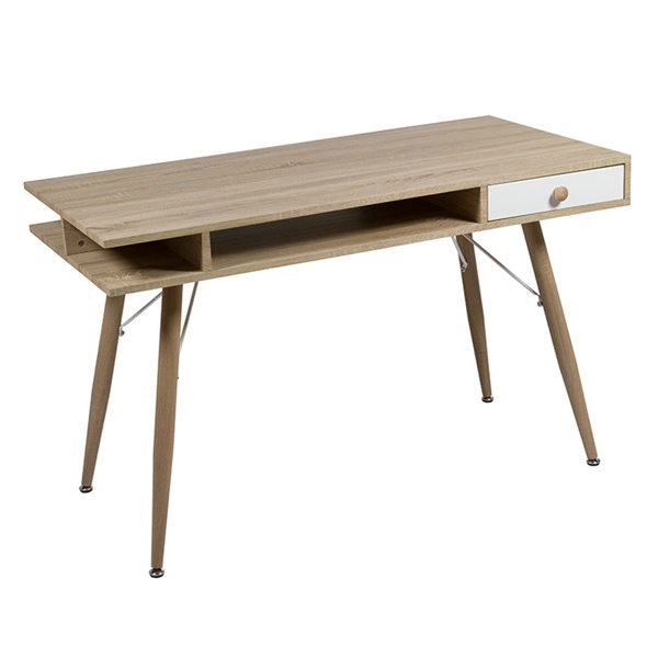 Desk (120 X 60 X 75 Cm) Mdf Steel