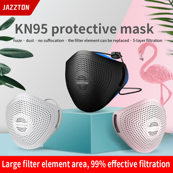 1 Set Reusable Kn95 Mask Soft Silicone Anti-Dust Virus With Filter Mouth Mask Adjust Earloop Cycling Outdoor Mask For Adults 2