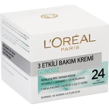 Loreal Paris 3 skuteczna codzienna pielęgnacja skóry normalnej i mieszanej 410218475 tanie i dobre opinie