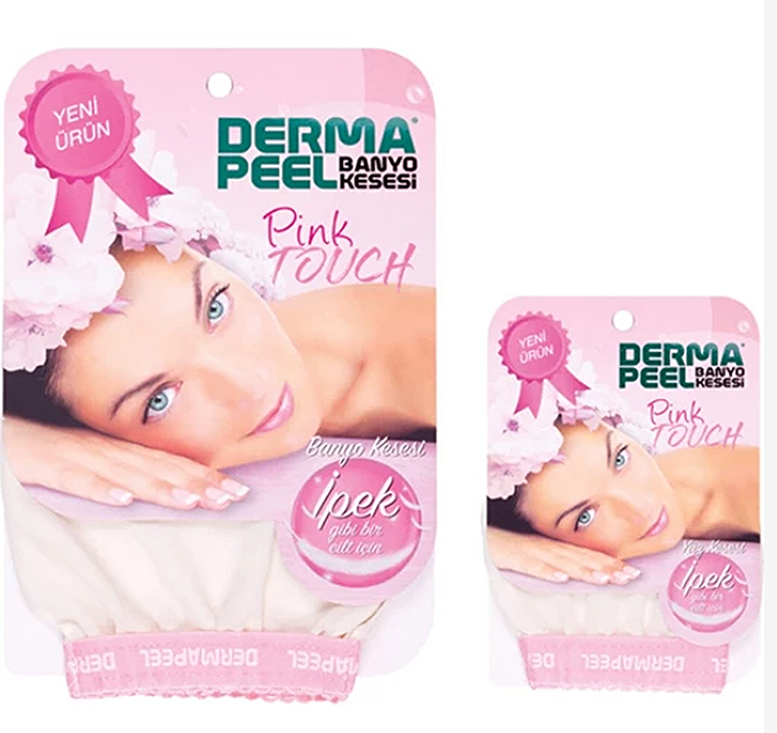 Face and body scrub set 2pcs skin face exfoliating bath fiber acne cellulite turkish baths ottoman pouch foam soap