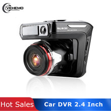 Vehemo Universal 2.4 Inch Dash Camera Auto DVR Cam Vehicle Video Recorder Mini Photography Driving Player 1080P ABS