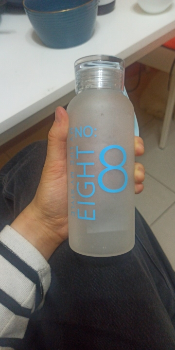 JOUDOO 300ml/400ml  Frosted Glass Water bottle Healthy Water Container Summer Lemon Water Bottle Drink Bottles Outdoor 47|Water Bottles|   - AliExpress