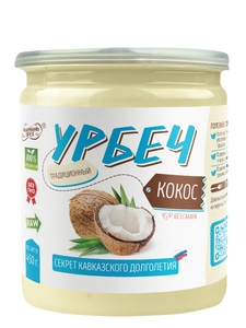 100% natural paste Urbech TM #Намажь_орех from coconut, sugar-free, palm oil free, coconut oil 450 gr