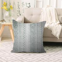 Mais cinza do vintage asteca geométrica escandinavo impressão 3d sofá grande travesseiro caso capas de almofada chão escondido zíper 70x70cm