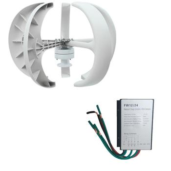 Lantern Type 5-Blade Vertical Axles 300W 12V Power Generator Wind Turbine Generator Durable Home Improvement Parts generator dy8000l huter power home appliances backup source during power outages benzine power stations