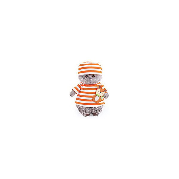 Soft Toy Budi Basa Cat Basik In Striped T-shirt With A Deer, 22 Cm