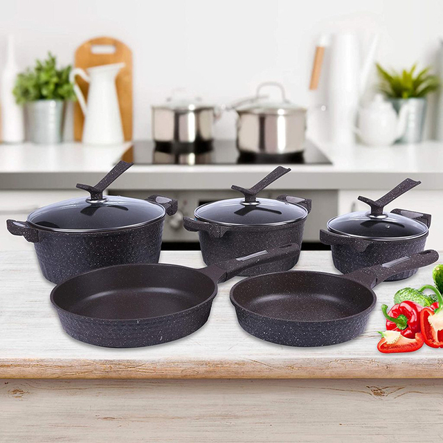 5pcs Stainless Steel Pots and Pans Sets, Classic Cookware Set 3