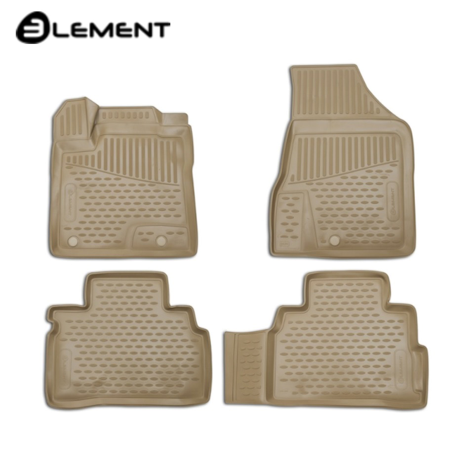 цена For Nissan Murano Z52 2016-2019 3D floor mats into saloon (beige color) 4 pcs/set [Element ELEMENT3D3661212k] в интернет-магазинах