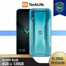 الإصدار العالمي من هاتف شاومي الأسود القرش 2 128GB ROM 8GB RAM للألعاب (العلامة التجارية الجديدة/مختومة) blackshark2 ، الهاتف الذكي blackshark