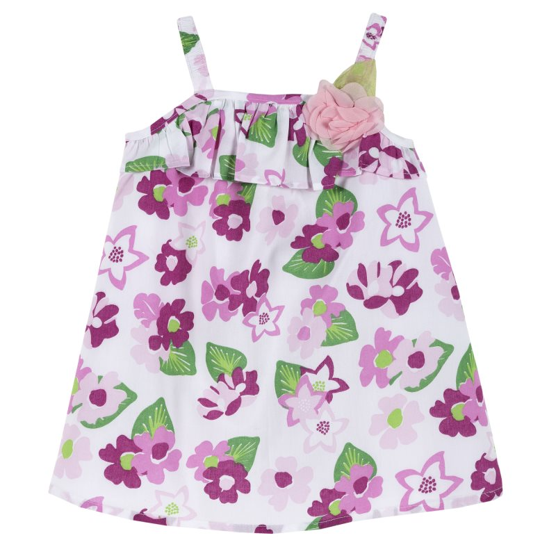 Dress Chicco, size 092, print flowers (сиренево-White) kids three dimensional flowers mesh princess dress