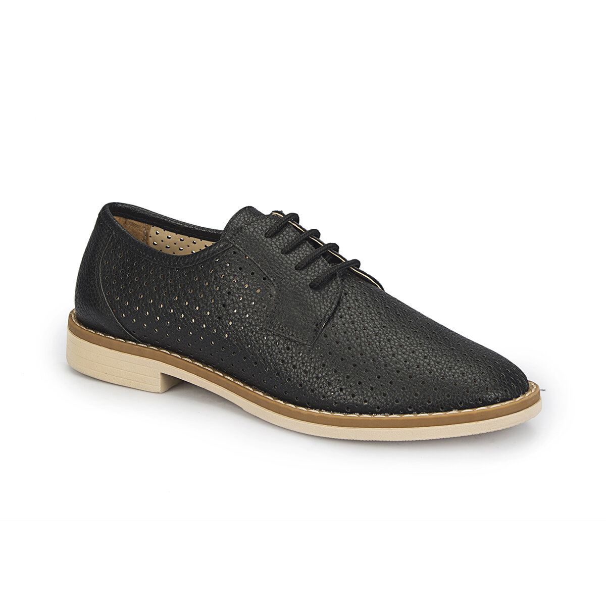 FLO 81.309994.Z Black Women Oxford Shoes Polaris