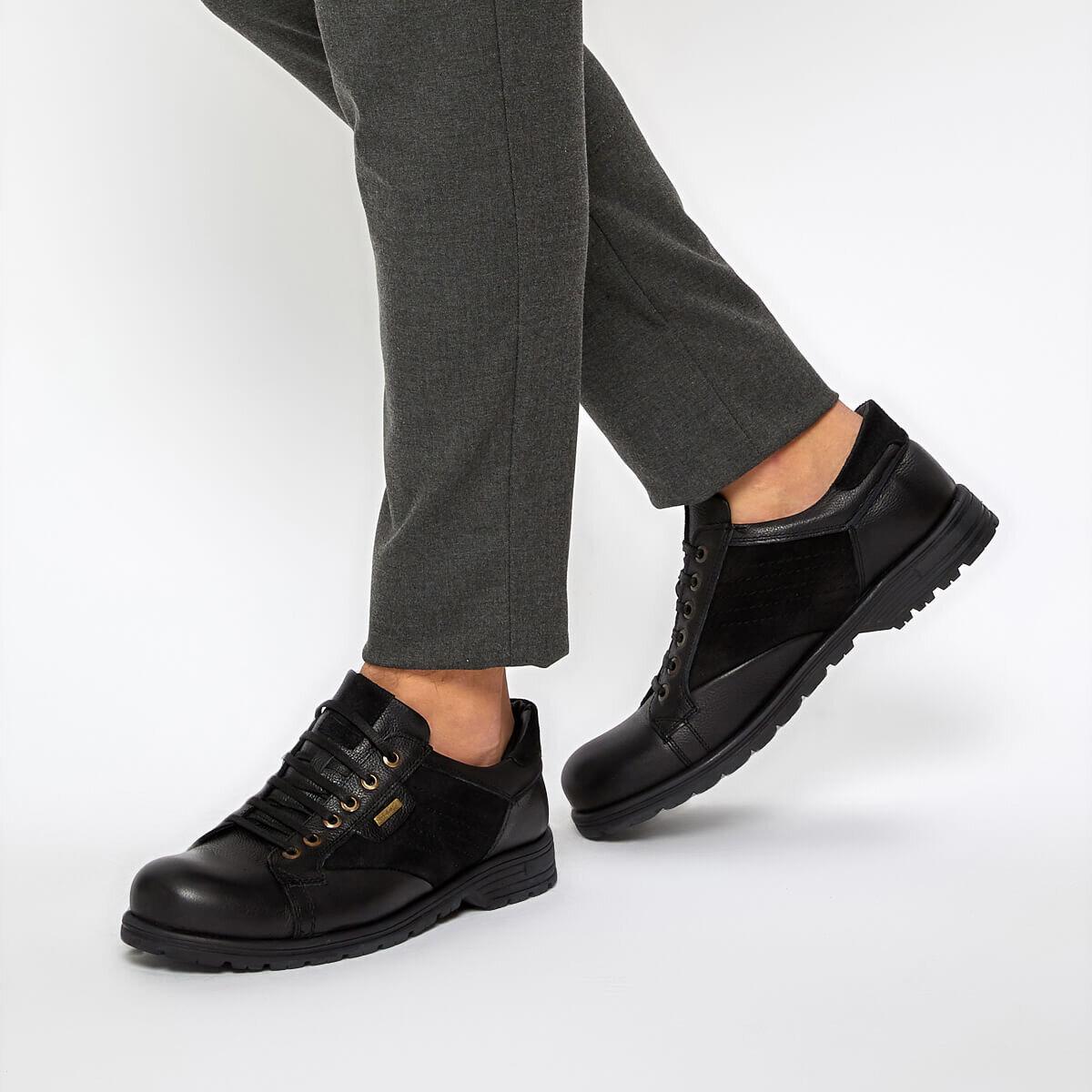 FLO 38-M Black Male Shoes Oxide