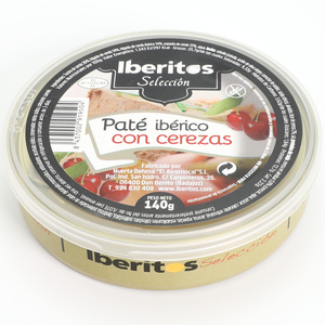 IBERITOS-canned Pate Iberico with Cherries 140g-tin de140 G PATE with Cherries