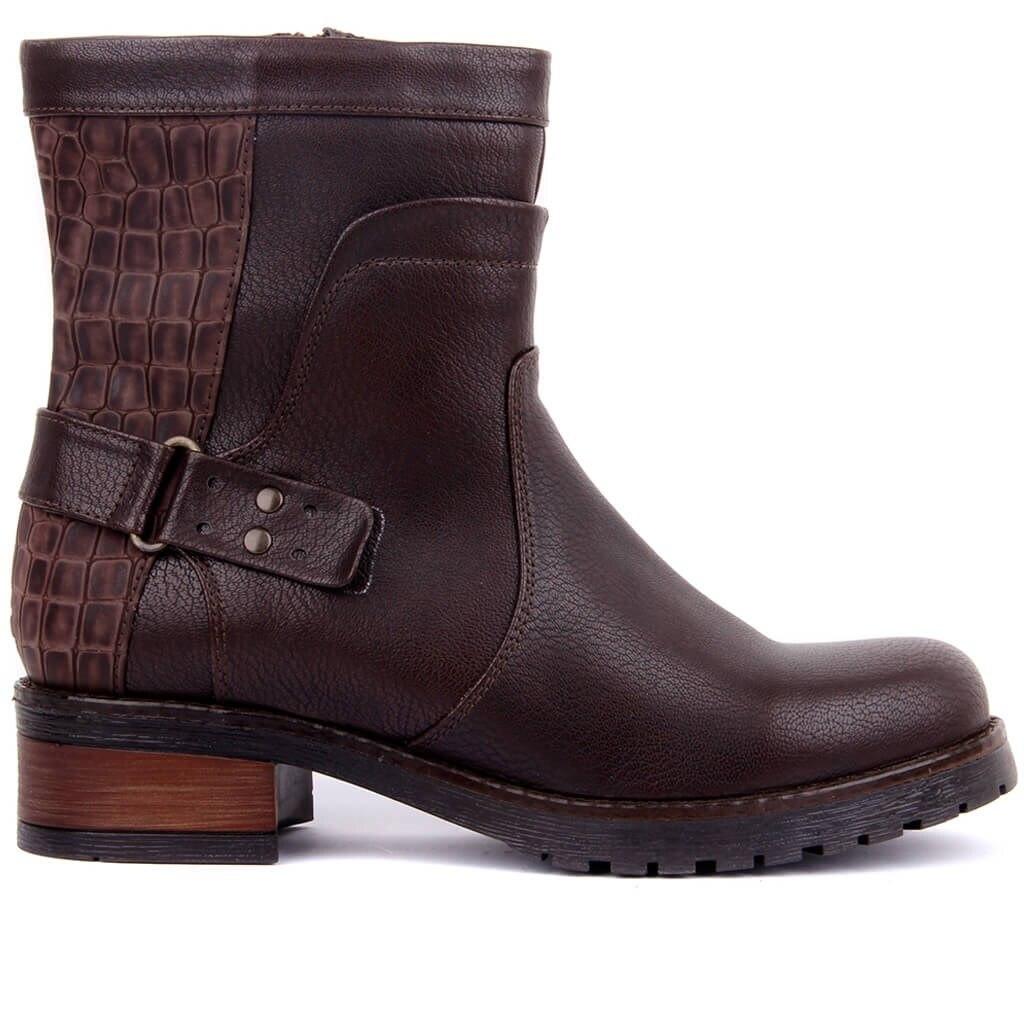 Moxee-bottes femme marron