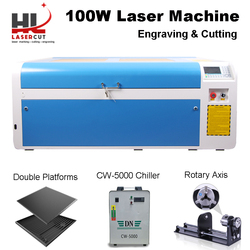 HL 100W CO2 Laser Cutter Machine with RUIDA 6445 Autofocus 1000x600mm