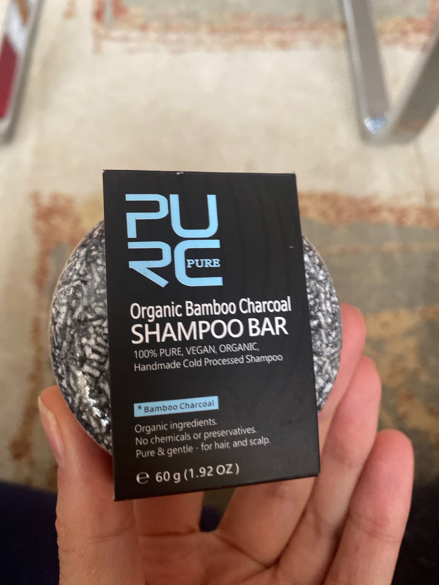 Gray and White Hair Color Dye Treatment - Clean Detox Soap Bar and Hair Shampoo photo review