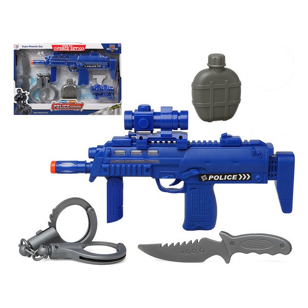 Police Set Blue 117280 (4 Pcs)