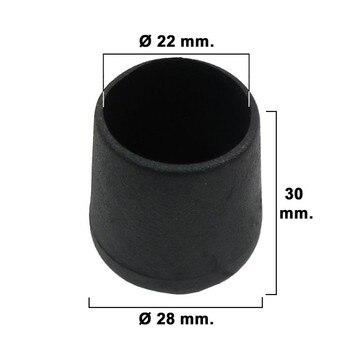 مخروط مستدق الأسود 22 مللي متر. نفطة 4 قطعة.
