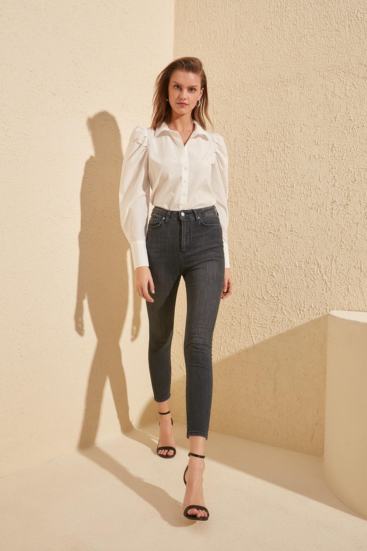 Trendyol Super High Waist Skinny Jeans TWOSS20JE0106