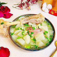 """#美食说出""""新年好""""#羊腿罗卜煲汤的做法图解14"""
