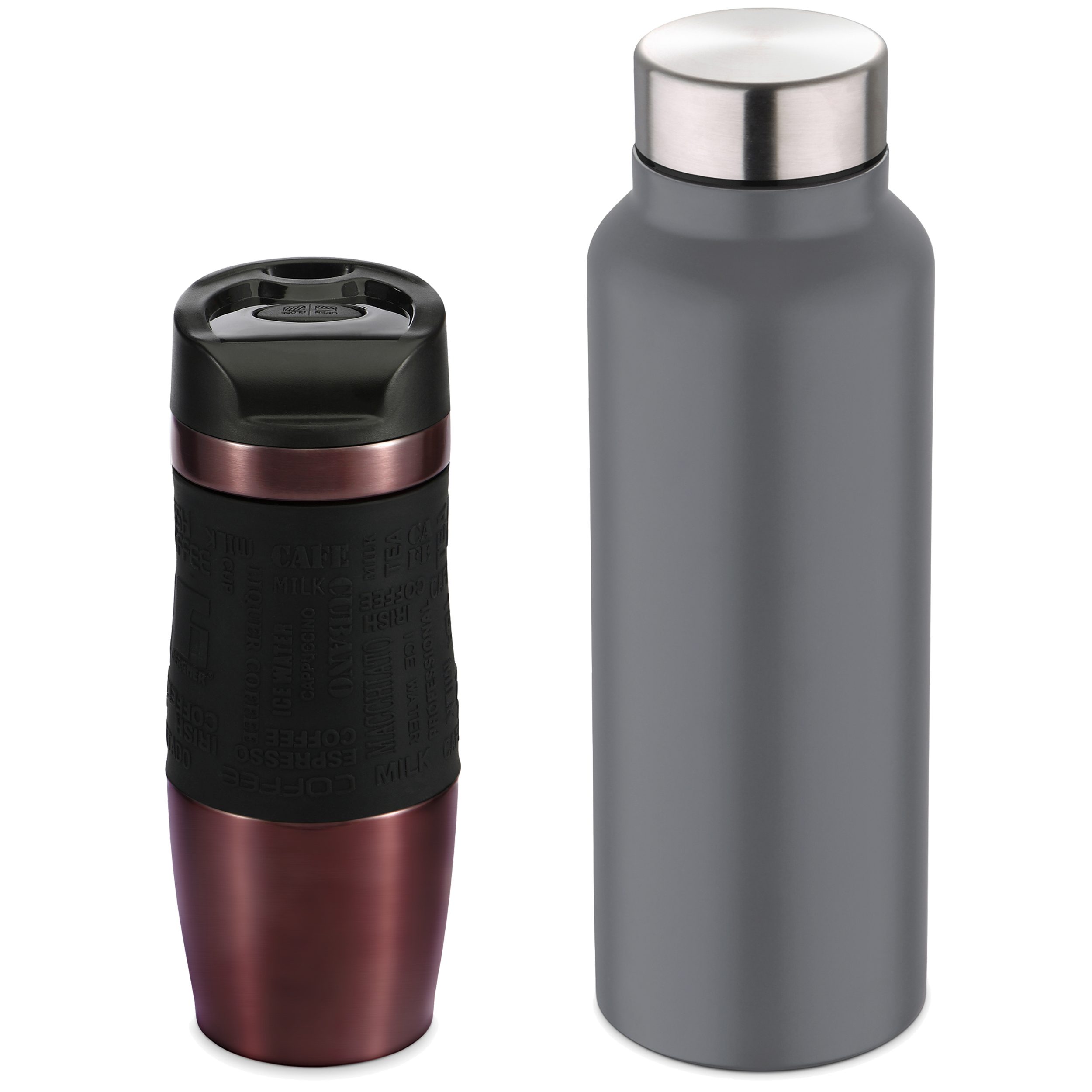 Bottles's Storage Or Thermal Bottles In Stainless Steel 400ml BERGNER Collection Neon Classic