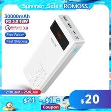 ROMOSS Sinn 8P + Power Bank 30000mAh PD QC 3,0 Quick Charge Power Tragbare Exterbal Batterie Ladegerät für iPhone Xiaomi Mi