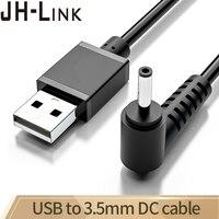 Jh-link USB do Dc 3.5mm kabel Usb do ładowania łokcia A męski na 3.5 łącze typu Jack 5v ładowarka zasilająca do okrągłego kabla zasilającego Usb