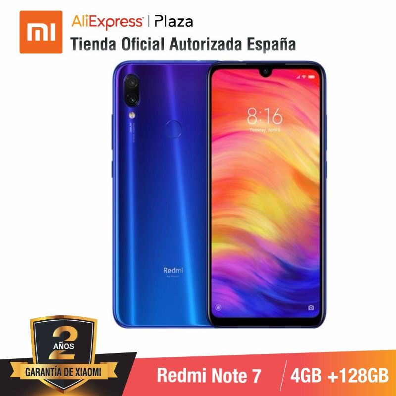 [Global Version For Spain] Xiaomi Redmi Note 7 (Memoria Interna De 128GB, RAM De 4GB,Camara Dual Trasera De 48 MP)
