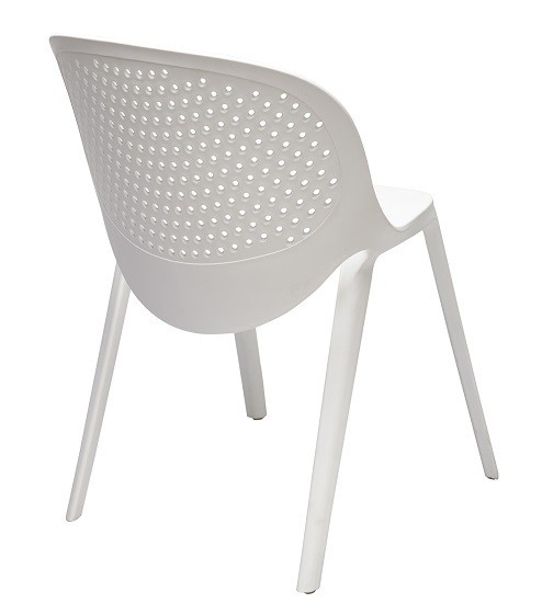 Chair JAVA, Stackable, Polypropylene White *