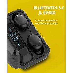 Image 4 - Ubeamer kablosuz kulaklık dokunmatik kontrol, LED ekran, gürültü iptal kulaklık, su geçirmez, en iyi Bluetooth F9 insan mikrofonlu kulaklık