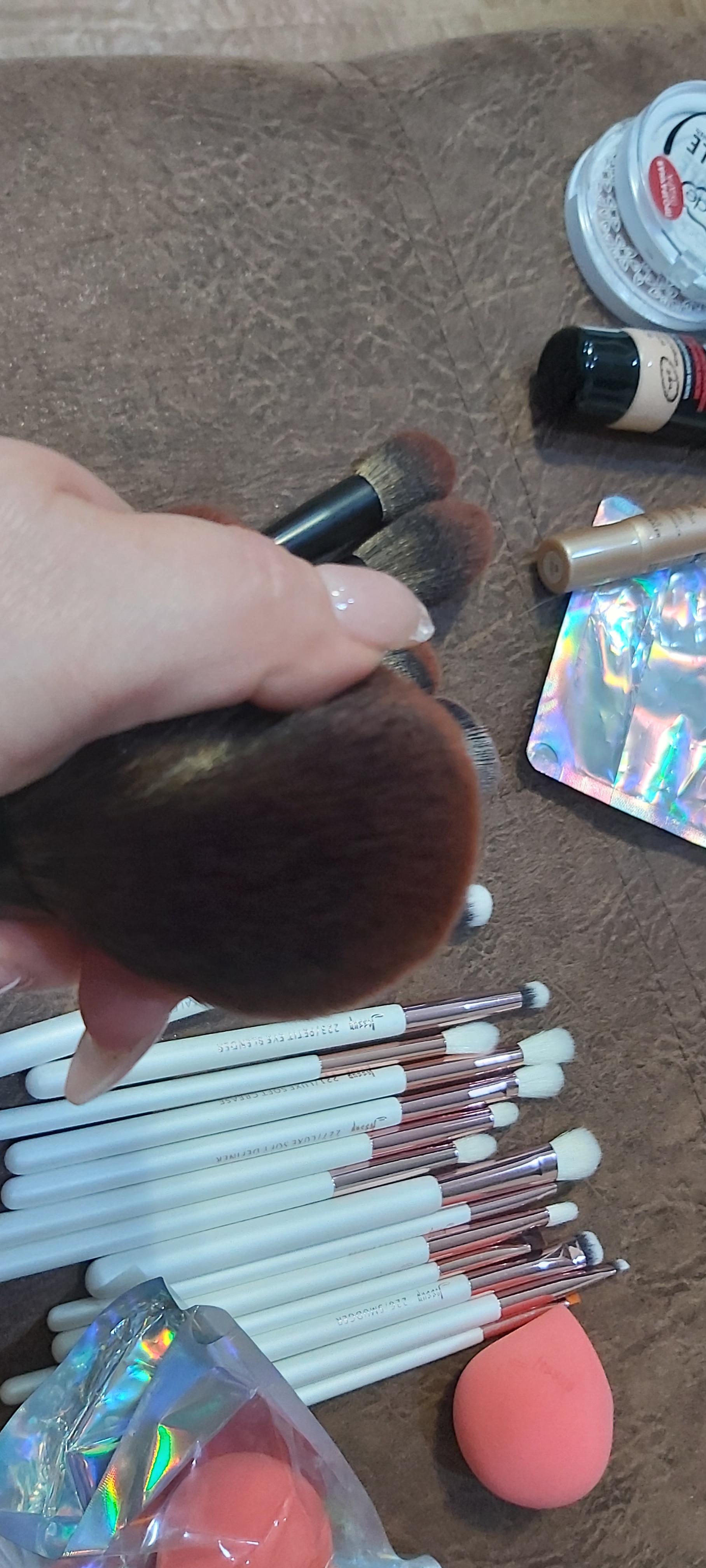 Jessup New Arrival Makeup brushes brushes Phantom Black 3-21pcs Foundation brush Powder Concealer Eyeshadow Synthetic hair reviews №3 177768