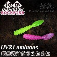 Tsurinoya macio ajing isca de pesca conjunto 10 pçs 36mm 0.4g calçadão rockfish jig de silicone sem-fim wobbler isca