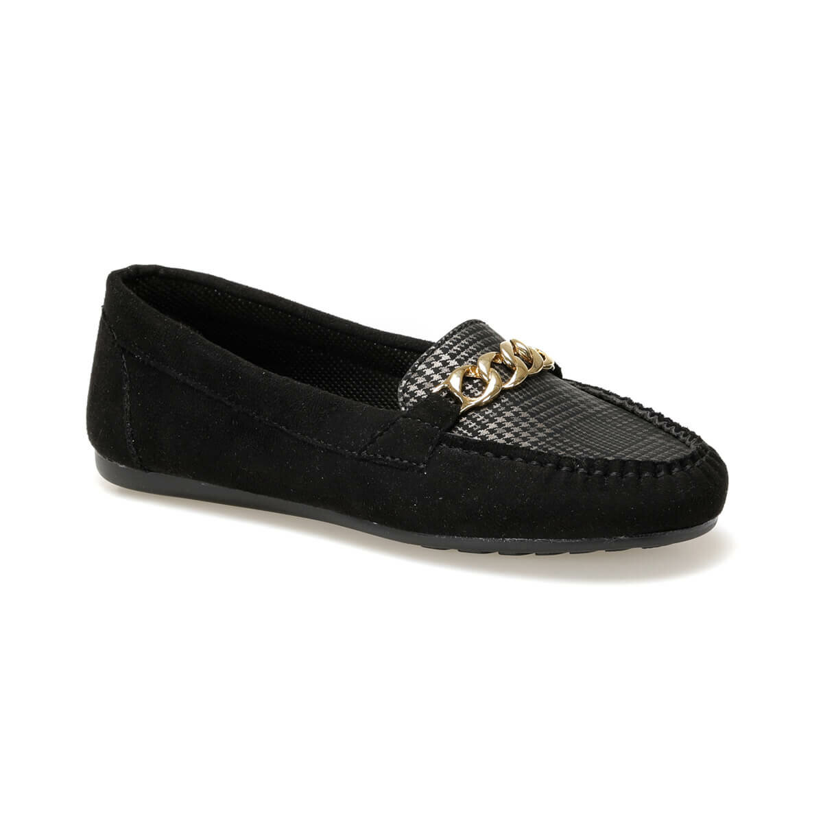 FLO DW19006E Black Women Loafer Shoes Miss F