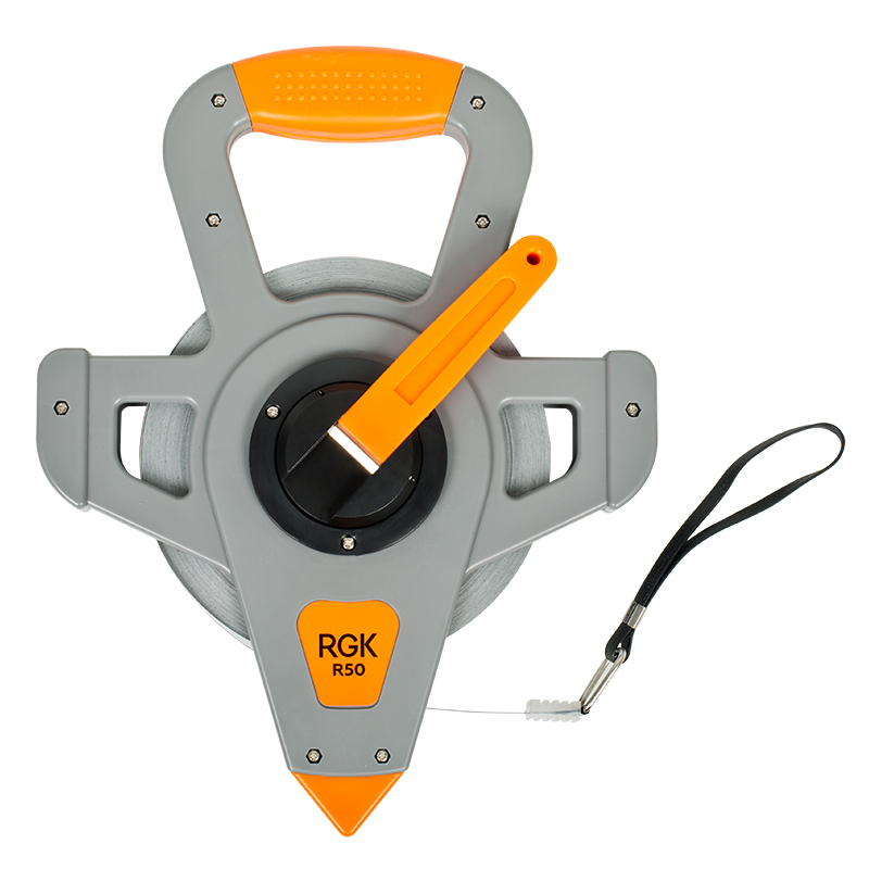 Measuring tape geodesic RGK R50 (tape length 50 m resistant to mechanical forces and can withstand high geodetic measuring tape matrix 31224
