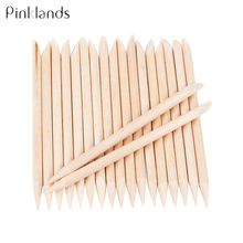 10/30/50 Pcs Women Art Design Wooden Orange Double-end Wood Sticks Nail Cuticle Pusher Remover Pedicure Manicure Tools