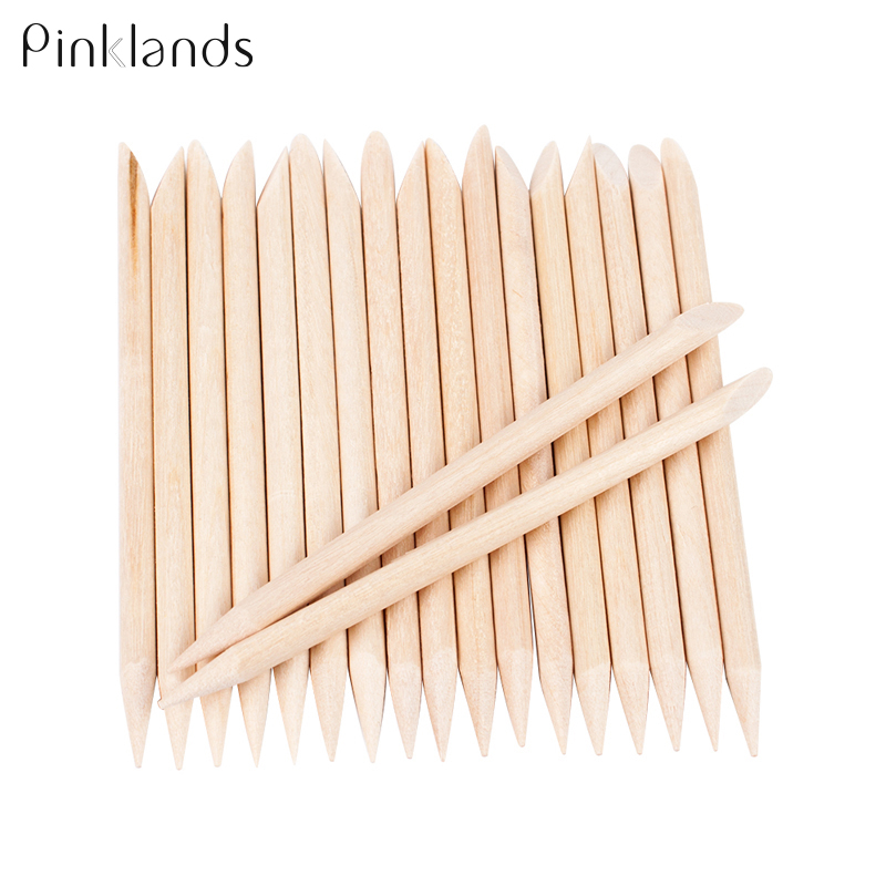 10/30/50 Pcs Women Art Design Wooden Orange Double-end Wood Sticks Nail Art Cuticle Pusher Remover Pedicure Manicure Tools