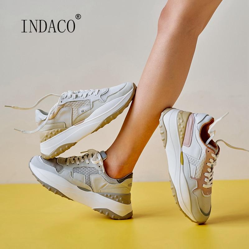 Summer Sneakers Women 2020 Leather Women Sneakers Fashion Woman Casual Shoes 5.5cm