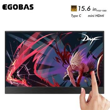 Ультратонкий алюминиевый корпус 15,6 дюйма, портативный монитор с одним кабелем, 1080P HDR lcd ips панель для игровой консоли, компьютера, смартфона